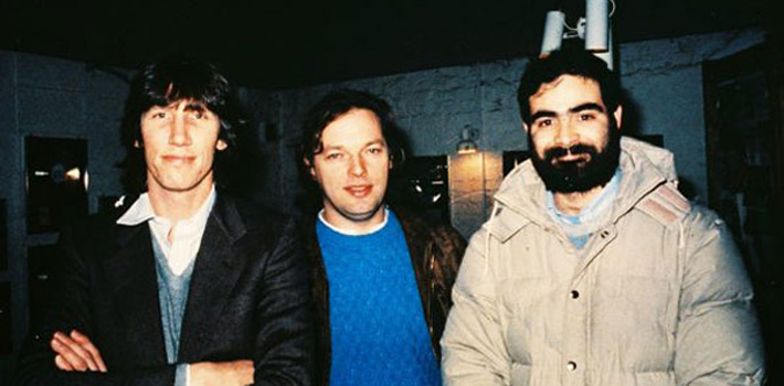 Hugo con Roger Waters y David Gilmour de Pink Floyd