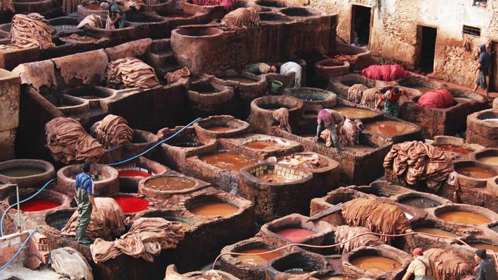 Lavado de cueros, Marruecos, de Natalia D. Alonso